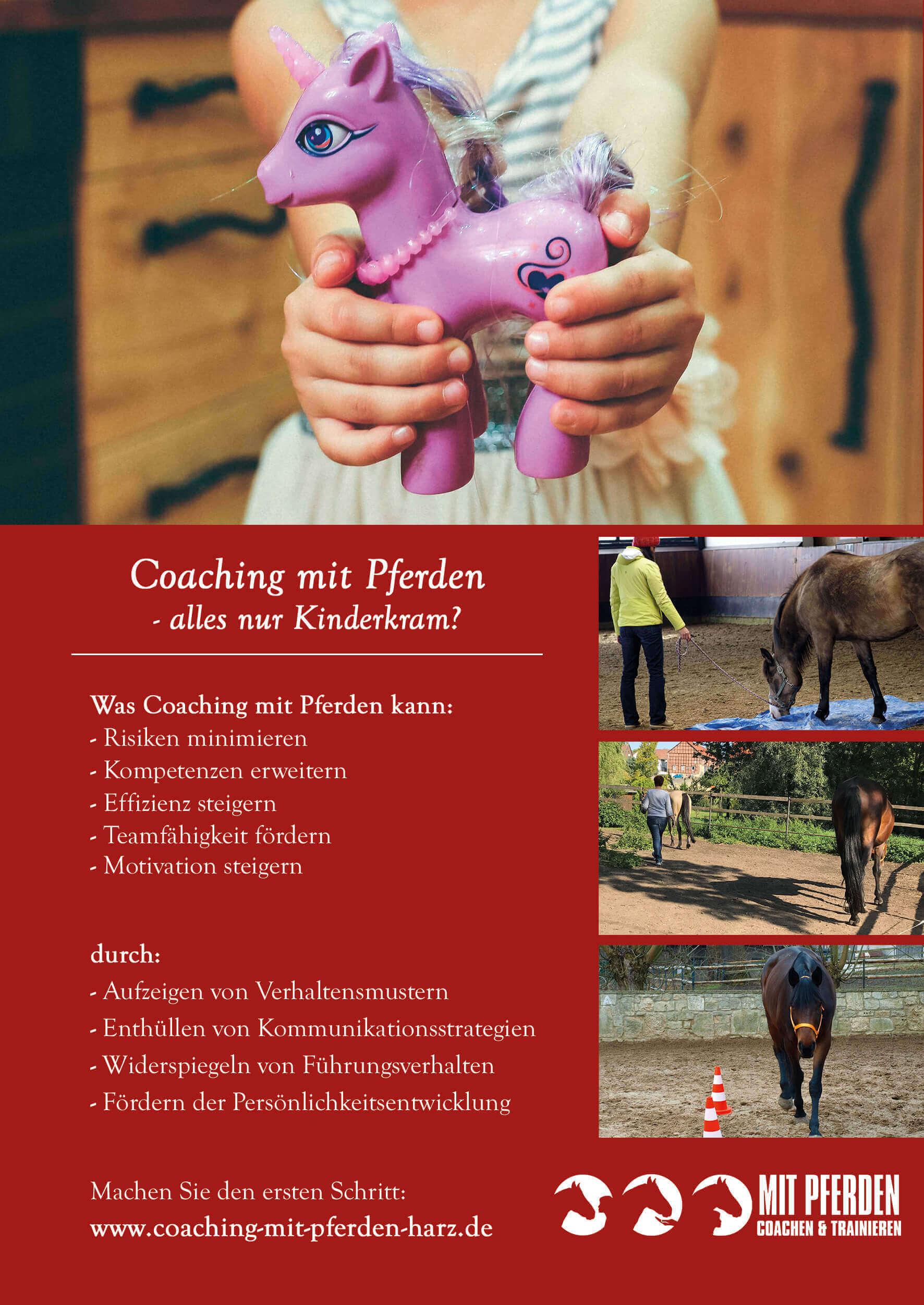 Flyer A5 Mit Pferden coachen & trainieren