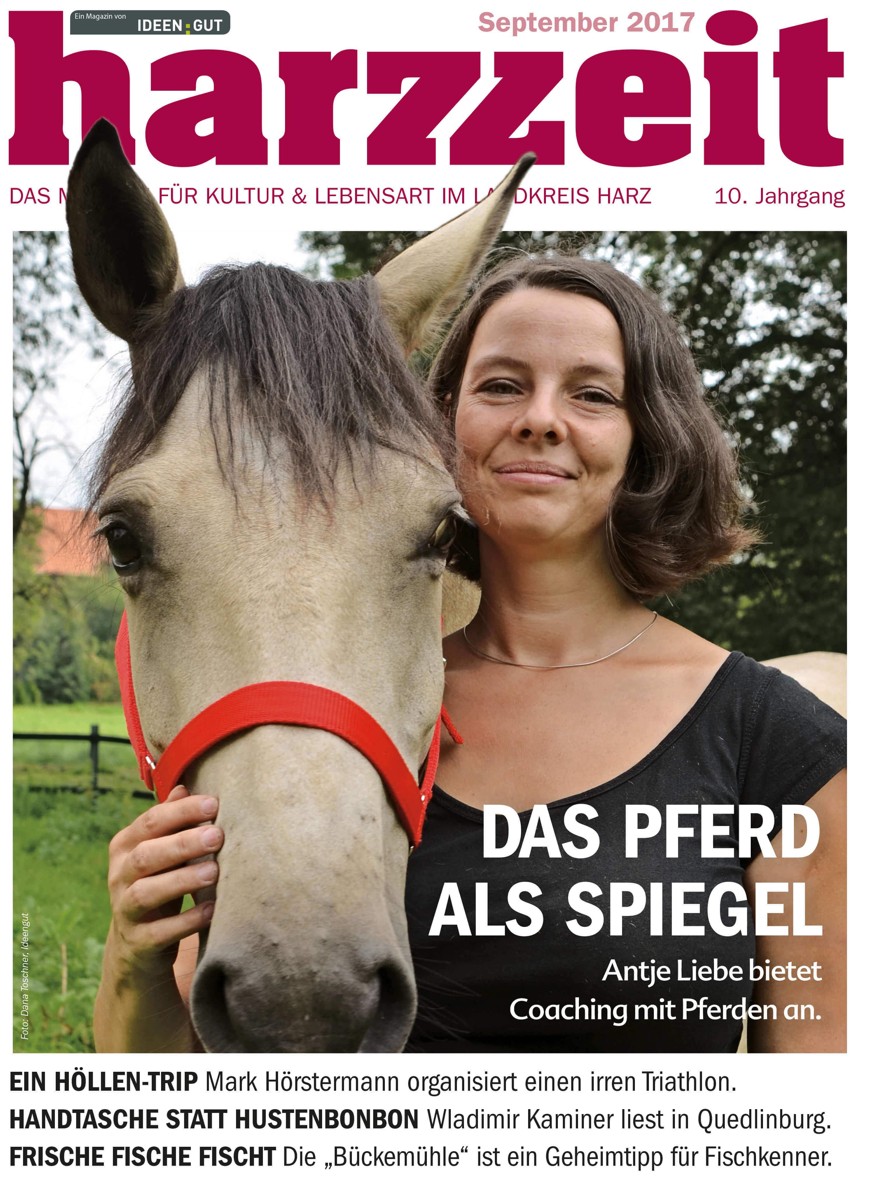 Harzzeit Cover 09/2017 | Coaching mit Pferden Harz