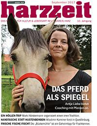 Das Pferd als Spiegel - Zeitungsartikel in der Harzzeit über Antje Liebe und Coaching mit Pferden Harz