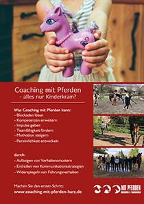 Flyer A5 – Coaching mit Pferden Harz